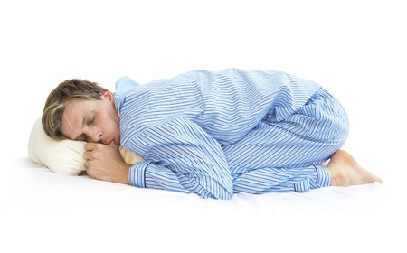 position: Sleep like a baby Stock Photo