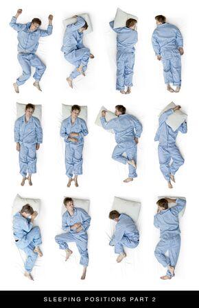 durmiendo: Posiciones para dormir 2 Foto de archivo