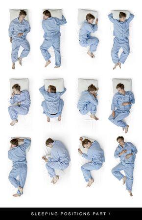 Positions de sommeil Banque d'images