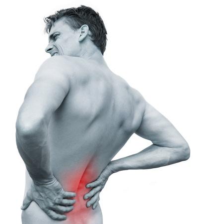 espalda: El dolor de espalda Foto de archivo