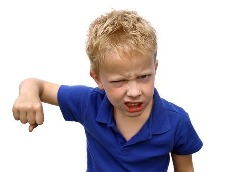 naughty boy: Bully Stock Photo