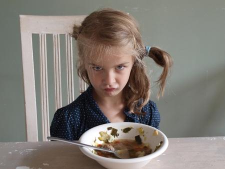 refusing: Refusing to eat Stock Photo