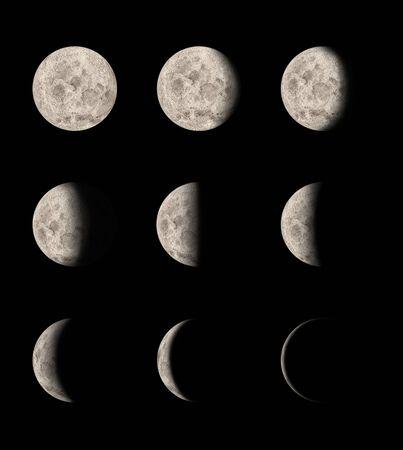 cicla: Fases de la luna Foto de archivo