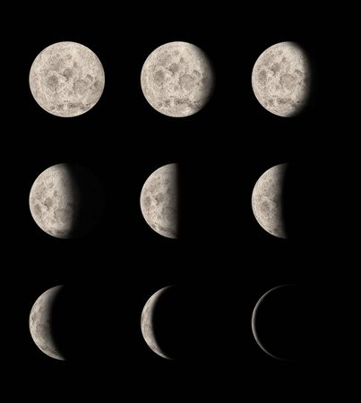 Phases of the moon photo
