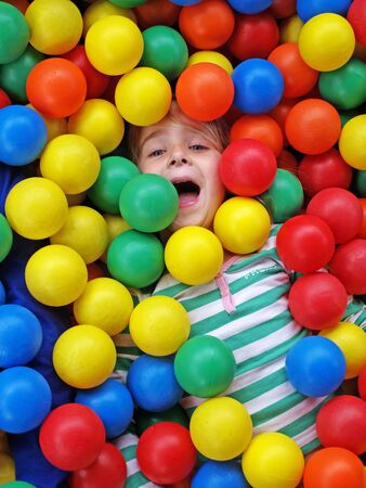 Cute girl in fun balls