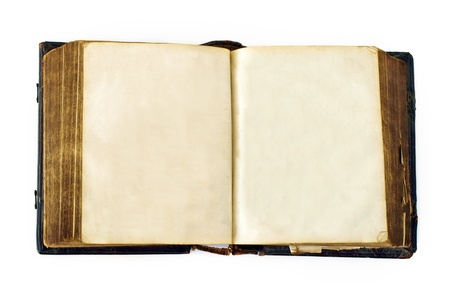 storybook: A very old and aged book with blank pages