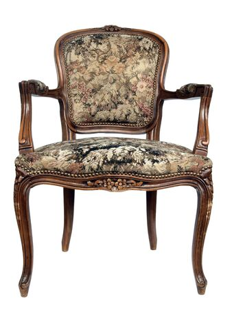 Old 19th century chair with ornaments Stock Photo - 18319884