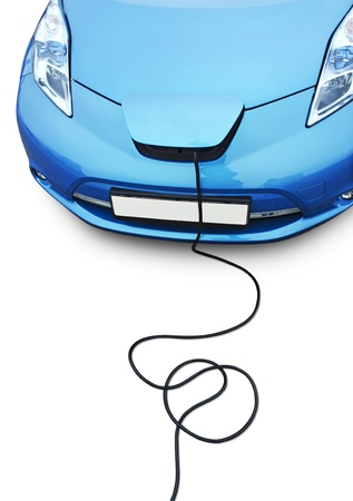 Electric car charging photo