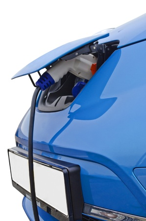 Electric car charging Stock Photo - 18263309