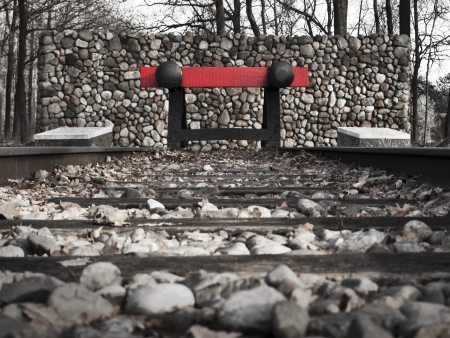 chambers: Westerbork dead end Stock Photo