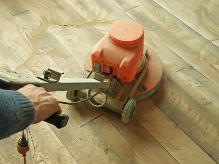 sablage de plancher