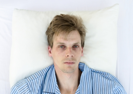 can't: Cant sleep from worries Stock Photo