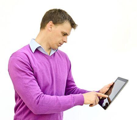 Man with iPad Stock Photo - 18519392
