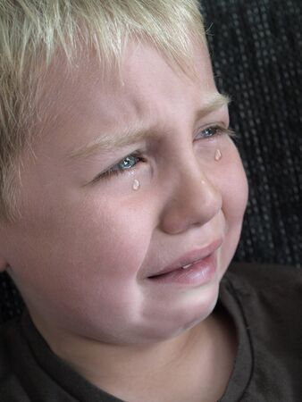 crying boy: crying little boy