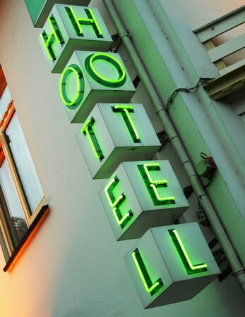 holidays vacancy: Hotel sign Stock Photo