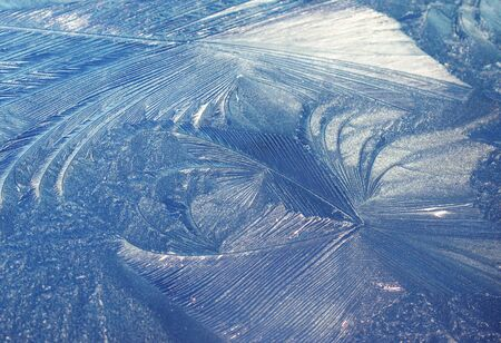 dichromatic: frost ice pattern Stock Photo