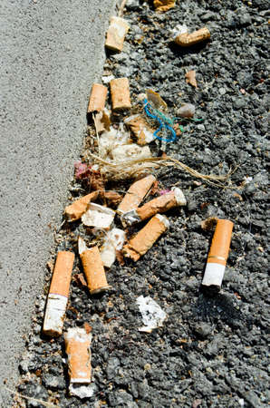 dumped: Dumped cigarettes on street