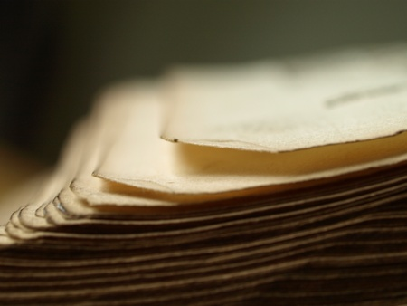 jehovah: close up of old book pages