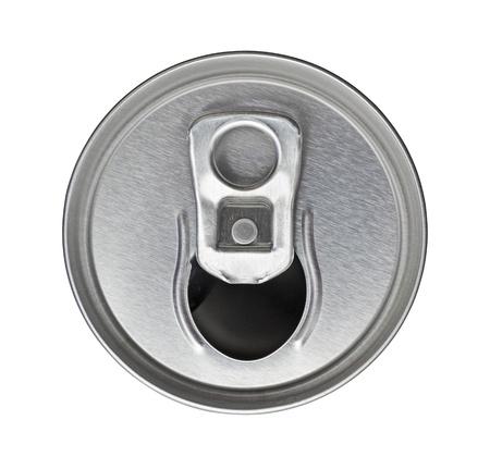 lata de refresco: Una lata de gaseosa de arriba