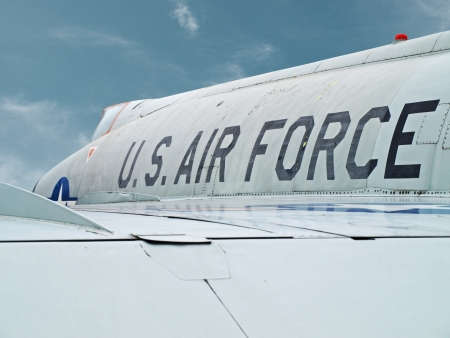 An old US Air force fighter plane