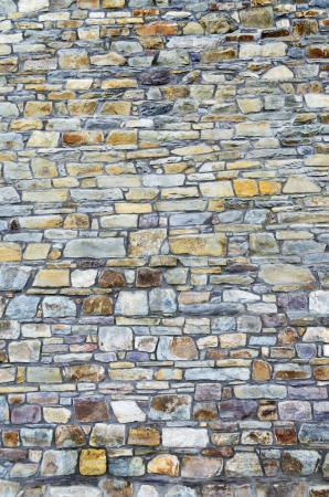 Wall tiled with small colored stones Stock Photo - 19587763