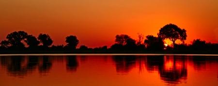 African sunset safari savannah Stock Photo - 19587722