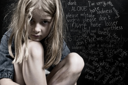 unwanted: Child abuse little girl