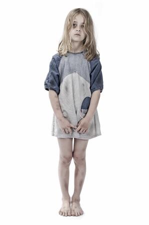 maltrato infantil: Abuso de ni?os Foto de archivo