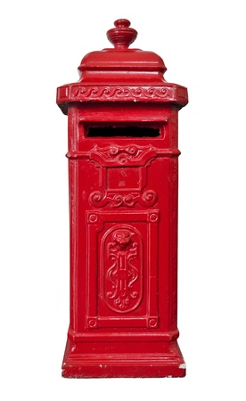 Red old-fashioned mailbox from the UK photo