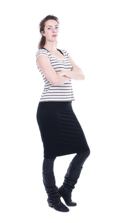 Confident woman isolated on white background Stock Photo - 21125615