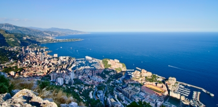 View of Monaco overseeing the town and harbor Stock Photo - 21694638
