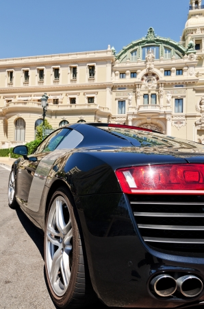 elite: Luxury sports car in monaco, concept of wealth or elite