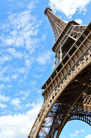 Shot of the Eiffel tower Paris with blue sky Stock Photo - 21924755