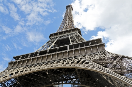 Shot of the Eiffel tower Paris with blue sky Stock Photo - 21924756