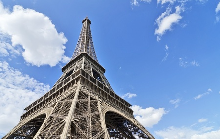 Impressive look on the Eiffel tower in France Paris Stock Photo - 21924757