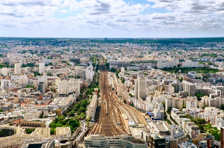 Paris train station areal or top view Stock Photo - 21924769