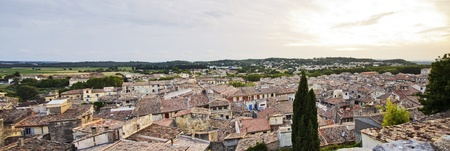 Romantic village of Sommiers France at sunset Stock Photo - 21922836
