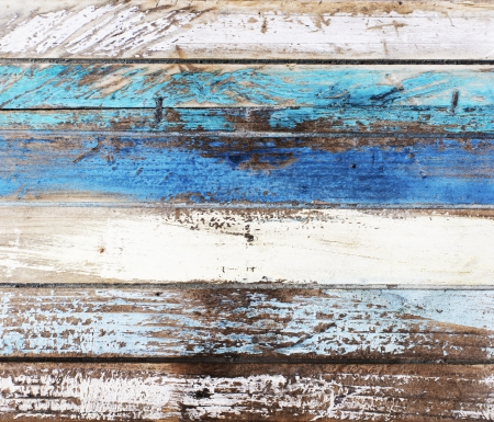 drift: Wooden panel in nautical colors Stock Photo