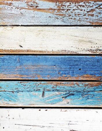 Panneau en bois dans des couleurs marines