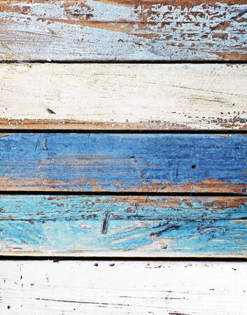 reclaimed: Wooden panel in nautical colors Stock Photo
