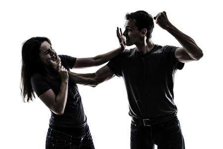 beating: Domestic violence Stock Photo
