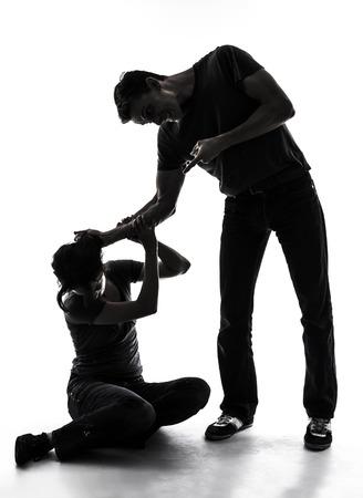 家庭内暴力 写真素材