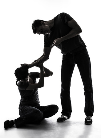 abuse: Domestic violence Stock Photo