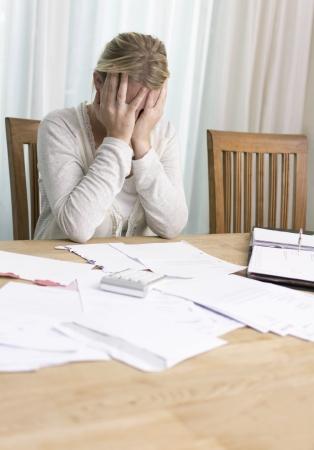 Nő pénzügyi problémák Stock fotó
