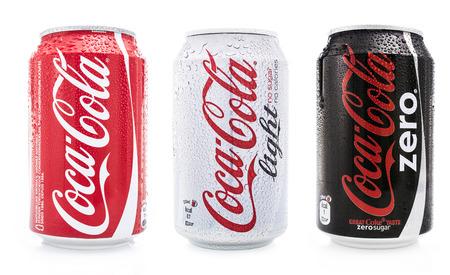 coca cola set Editorial