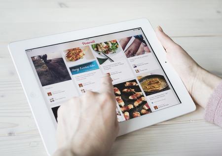 Pinterest on tablet pc or iPad