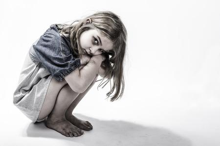 A hajléktalan vagy elhanyagolt gyermek Stock fotó
