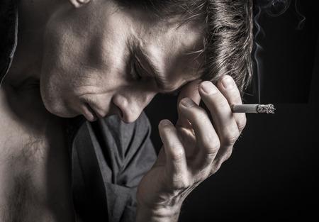 Depressed man Stock Photo