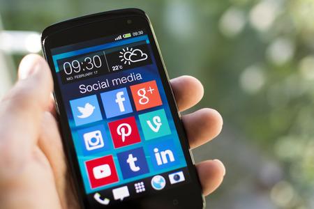 szociális média ikonok Sajtókép