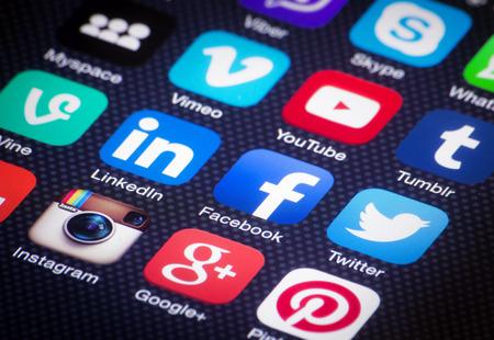 A közösségi média ikonok Sajtókép